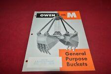 Owen M Grapple Buckets Dealer's Brochure YABE18