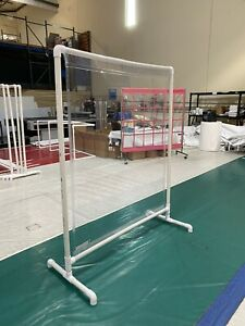 Portable Partition 6x5 Ft Plastics Frame, All Clear Fabric.