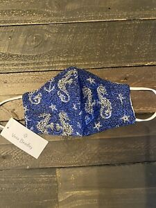 New with Tags, Vera Bradley Mask In Sea Horse Of Course