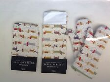 New Ulster Weavers Dachshund Set of 5 (2 Kitchen Towels, 2 Pot Holders, 1 Apron)