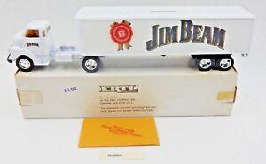 NEW ~ VINTAGE RARE ERTL JIM BEAM 1950 CHEVY TRACTOR TRAILER DIECAST COIN BANK