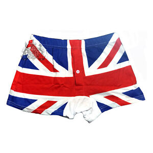 2 x Pieces of men's boxer Union Jack shorts British flag London underwear