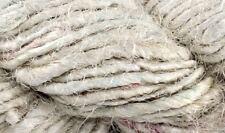 Recycled Sari Yarn- Natural White