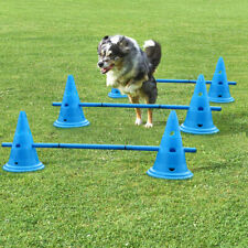 Set of 3 Dog Agility Equipment Jumps Kit Indoor Pet Training Hurdle Cones Course