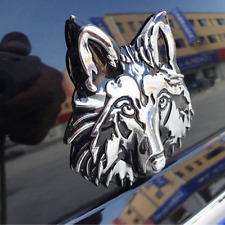 3D Wolf Head Auto Car Motorcycle Logo Sticker Metal Badge Emblem Decals Chic