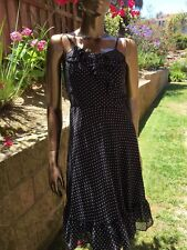 Women's dress size 4 American Living spaghetti straps polka dots and ruffles