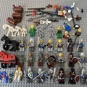 Large LEGO Vintage Modern Knights Kingdom Castle Minifigure Bundle Joblot Weapon