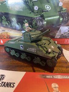 Cobi World Of Tanks M4 Sherman 500 Brick Pieces  Model WW2 Tank.