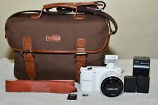 Samsung NX2000 20.3MP  (White) w/20-50mm II i-Function Lens + Extras_Excellent!!