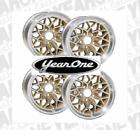 "YEARONE Gold Snowflake Wheels 17"" X 9"" Cast Aluminum Set of 4"