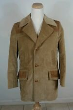 Vtg 70s Sears Flannel Satin Lined Corduroy Mens Coat Jacket Sz 40 R Euc! Mod