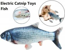 Realistic Interactive Fish Cat Toys Pet Kicker Catnip Toys USB Charging