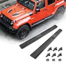 07-18 Jeep Wrangler JK ABS Unlimited 4Dr Running Board Side Step Nerf Bars Black