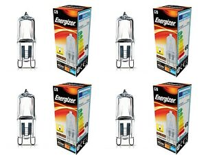 Energizer G9 33w/40W Eco Halogen Bulbs Dimmable 460 Lumens Warm White 4 Pack
