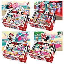 Trefl Mini 4 x 54 Pieces Kids Girls Minnie Mouse & Daisy At Beach Jigsaw Puzzle