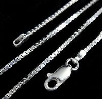 1.5MM Solid 925 Sterling Silver Italian Venetian BOX CHAIN Necklace Italy