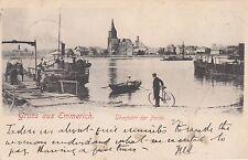 Gruss aus Emmerich 1902 Fähre Überfahrt Ponte Rhein Nordrhein-Westfalen 1705278