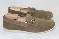 John Varvatos Star USA Boater Dog Clip Moccasin Shoe - 8 M - Brown Clay (Q24)