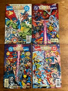 DC Versus Marvel / Marvel Versus DC #1-#4 (1996) NM Complete Mini Series Set r
