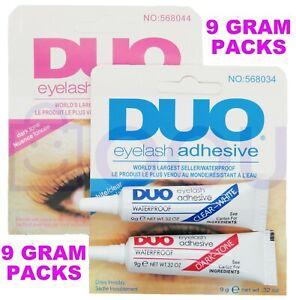 💙DUO Eyelash Glue 9g Adhesive Strong Clear/Black Waterproof False Eyelashes💙