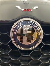 2X Alfa Romeo Nero Emblem Overlays