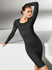 NWT $875  Wolford  Merino Luxe Dress M  Black  59671