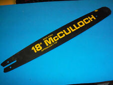 """NEW MCCULLOCH 18"""" MINI PRO CHAINSAW BAR 219276 650-375 OEM FREE SHIPPING"""