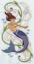 MERMAID FANTASY U PIC SET OF 2 HAND TOWELS EMBROIDERED by laura