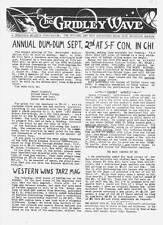 GRIDLEY WAVE #5 - 1962 Edgar Rice Burroughs fanzine - The Monster Men review