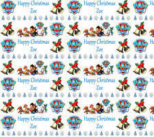Personalised Christmas Gift Wrap KIDS CHILDRENS CHARACTERS Wrapping Paper 1