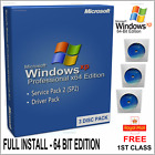 WINDOWS XP PROFESSIONAL 64 BIT EDITION O/S with Licence Code & Drivers DVD Pack