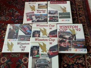 1988, 1989, 1990, 1991,  1992 Nascar Winston Cup Racing Yearbooks 6 Total Books