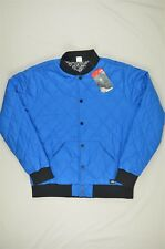 NEW MENS The North Face Jester Reversible Jacket Quilted Bomber Blue M #95-52490