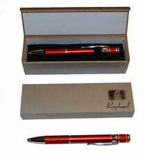 Heavy Duty Red Metal Pen Matte Finish & Textured Grip W/ Pen Box FREE SHIPPING
