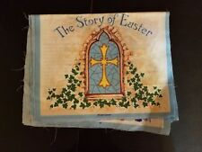 Bible Story of Easter Book Fabric Quilt Panel 10pg VTG Fabric Traditions 1996