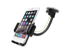 Universal 360 View Adjustable Wide Grip Gooseneck Cell Phone Holder Car Windows