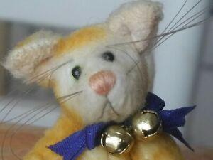 Limited Edition plush Artist Kitty Cat by Deb Canham Teddy Bear Friend 3in EUC