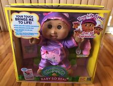 "Cabbage Patch Kids Baby So Real 14"" Doll African American Interactive Baby ""NEW"""