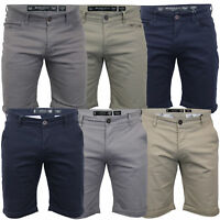 Mens Chino Shorts Crosshatch Brandons Knee Length Fastrack Roll Up Summer New