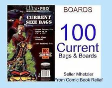 100 CURRENT ULTRA PRO BAGS AND BOARDS FOR COMIC BOOKS