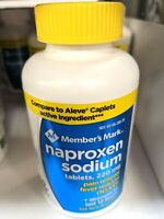 Member's Mark 220 mg Tablets Naproxen Sodium 400 Count NSAID
