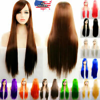 "Wigs 31"" Long Straight Fashion Cosplay Costume Party Hair Anime Full Hair Wig"