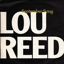 Lou Reed September Song / O Heavenly Salvation Spain Import 45 W/ Picture Sleeve
