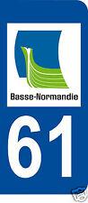 1 Sticker plaque AUTO adhésif département 61