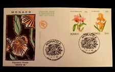 MONACO PREMIER JOUR FDC YVERT  1712/13      FLEURS , GRACE      4+3F        1990