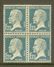 """FRANCE STAMP TIMBRE N° 180 """" TYPE PASTEUR 1F25 BLEU BLOC DE 4 """" NEUF xx TTB"""