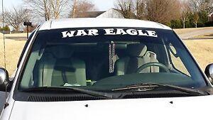 "Auburn Tigers ""War Eagle"" windshield decal"