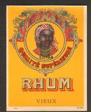 ETIQUETTE de RHUM LUISA / RHUM VIEUX / Portrait de FEMME ANTILLAISE