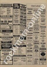 Sex Pistols Vibrators 100 Club AC/DC Hot Rods Marquee Club show adverts 1976