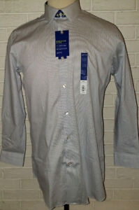 Men's Apt. 9 Stripe Blue Slim Fit Long Sleeve Dress Shirt Size 15-15.5 (32/33)
